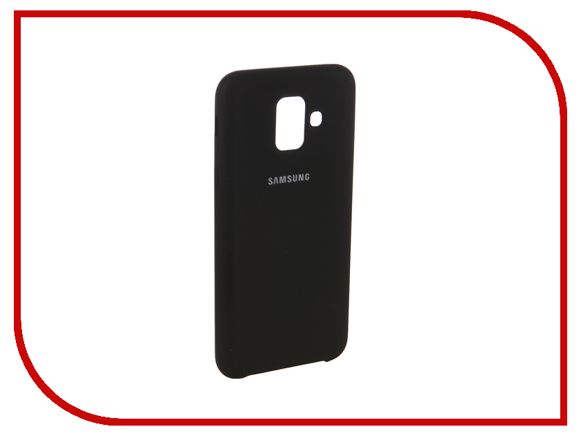Аксессуар Чехол для Samsung Galaxy A6 2018 Innovation Silicone Black 12624 аксессуар чехол книга для samsung galaxy a6 2018 innovation book silicone black 12448