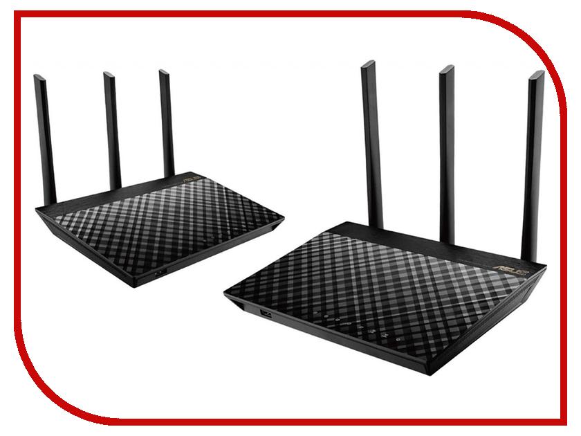 Wi-Fi роутер ASUS AiMesh AC1900 RT-AC67U (2 pack) ag3 1 55v alkaline cell button batteries 10 piece pack 2 pack set
