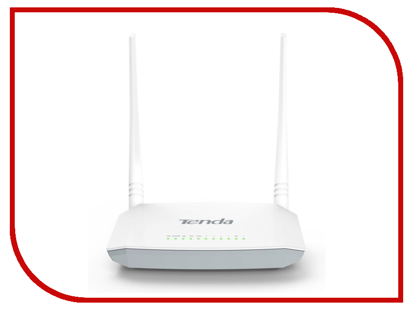 Wi-Fi роутер Tenda D301 V2 White ginzzu gt x770 v2 lte 8gb white