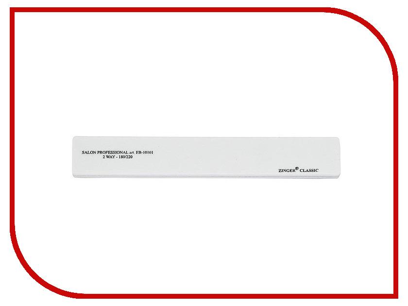Аксессуар Пилка-шлифовка Zinger EB-10101 (220/220) White аксессуар пилка наждак zinger ea 307 150 220 rainbow