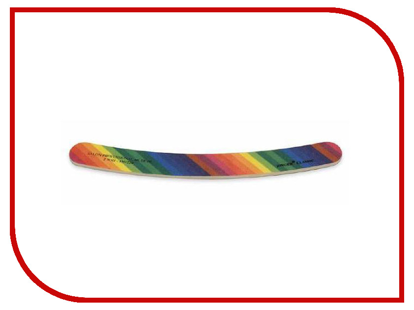 Аксессуар Пилка-наждак Zinger EE-06 (150/220) Rainbow аксессуар маникюрные ножницы zinger 1312 pb sh salon zp