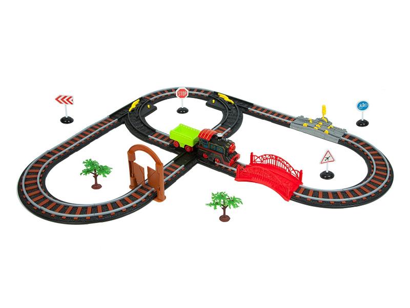 Игрушка Bondibon Восточный экспресс с одним паровозом и вагоном, воротами ВВ2998