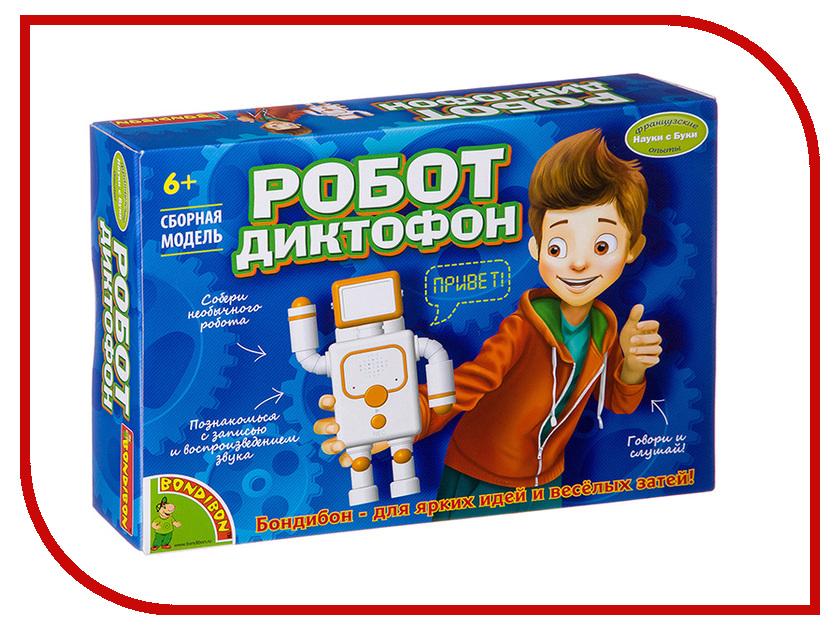 Игра Bondibon Французские опыты Науки с Буки Робот-диктофон ВВ2746