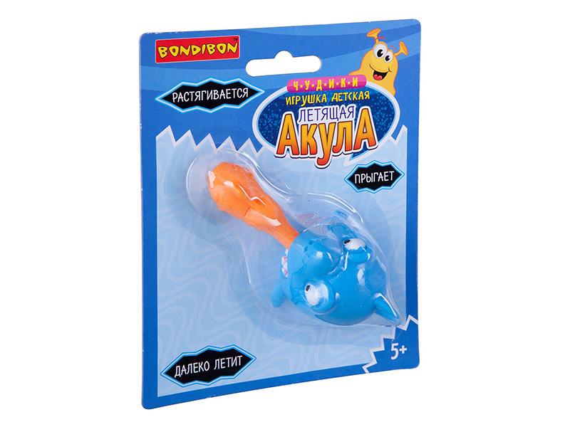 Игрушка-мяч Bondibon Чудики Летящая акула Light Blue ВВ3040