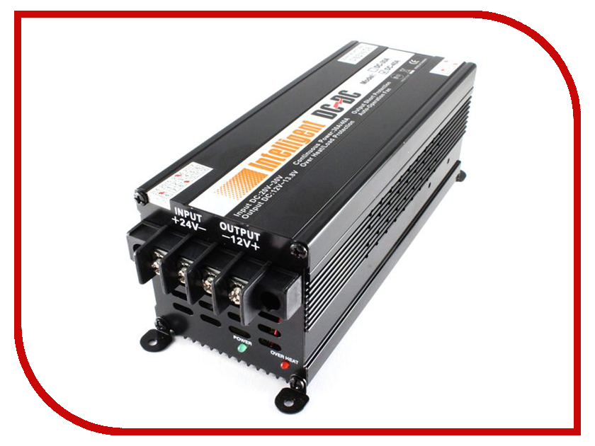 Автоинвертор Intelligent С 24В на 12В 2412-40 автоинвертор орион пн 50 с 12в на 24в