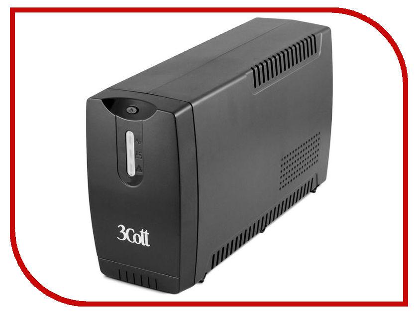 цена на Источник бесперебойного питания 3Cott Connect Line 650VA 390W 3Cott-650-CNL