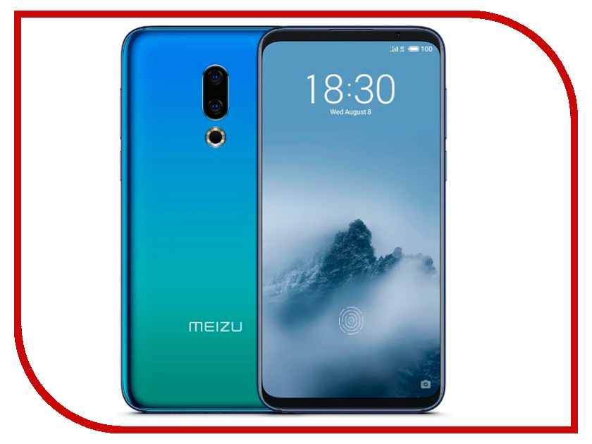 Сотовый телефон Meizu 16th 6Gb RAM 64Gb Aurora Blue смартфон meizu pro7 plus 64gb 6gb black m793h