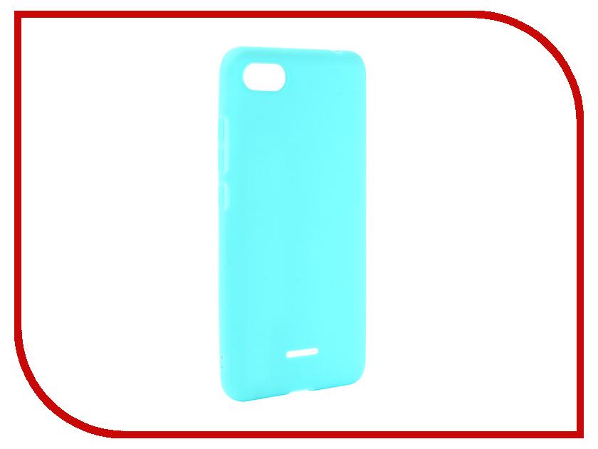 Аксессуар Чехол для Xiaomi Redmi 6A Zibelino Soft Matte Turquoise ZSM-XIA-6A-TQS чехол книжка red line book type для xiaomi redmi 5 black