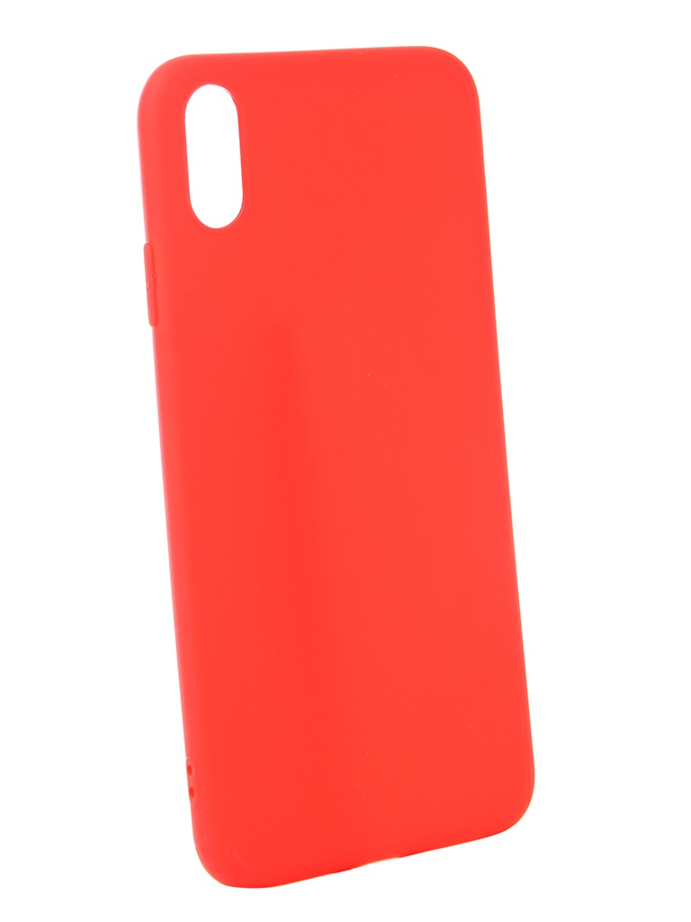 Аксессуар Чехол Zibelino для APPLE iPhone XS Max Soft Matte Red ZSM-APL-XSMAX-RED аксессуар чехол apple для apple iphone xs max mrwt2zm a