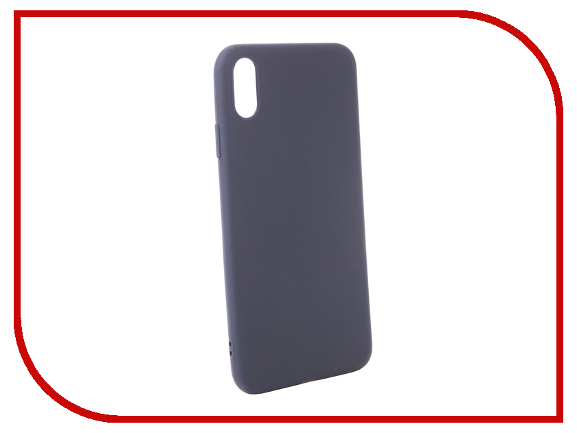 Аксессуар Чехол Zibelino для APPLE iPhone XS Max Soft Matte Blue ZSM-APL-XSMAX-BLU