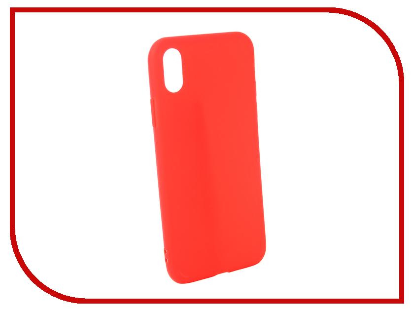 Аксессуар Чехол для APPLE iPhone XS Zibelino Soft Matte Red ZSM-APL-XS-RED аксессуар чехол zibelino soft matte для apple iphone xs max black zsm apl xsmax blk