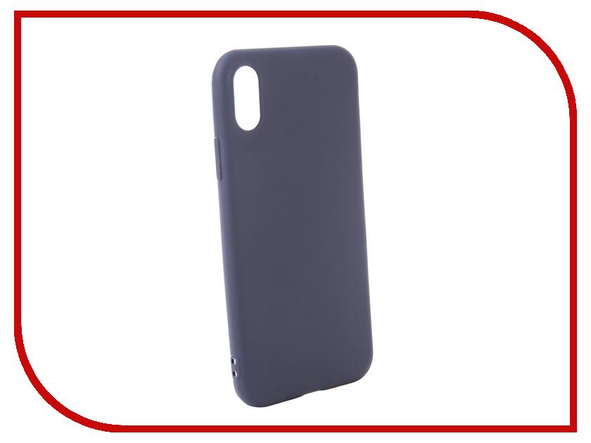 Аксессуар Чехол для APPLE iPhone XS Zibelino Soft Matte Blue ZSM-APL-XS-BLU аксессуар чехол zibelino book для apple iphone xs black zb apl xs blk