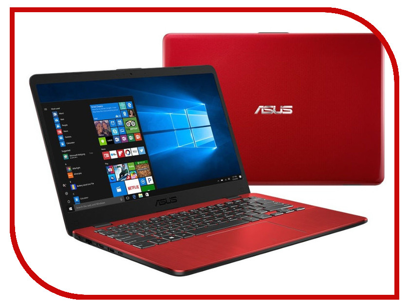 Ноутбук ASUS X405UA-BV924T 90NB0FA5-M13040 Red (Intel Core i3-6006U 2.0 GHz/4096Mb/1000Gb/No ODD/Intel HD Graphics/Wi-Fi/Bluetooth/Cam/14.0/1366x768/Windows 10 64-bit) стоимость