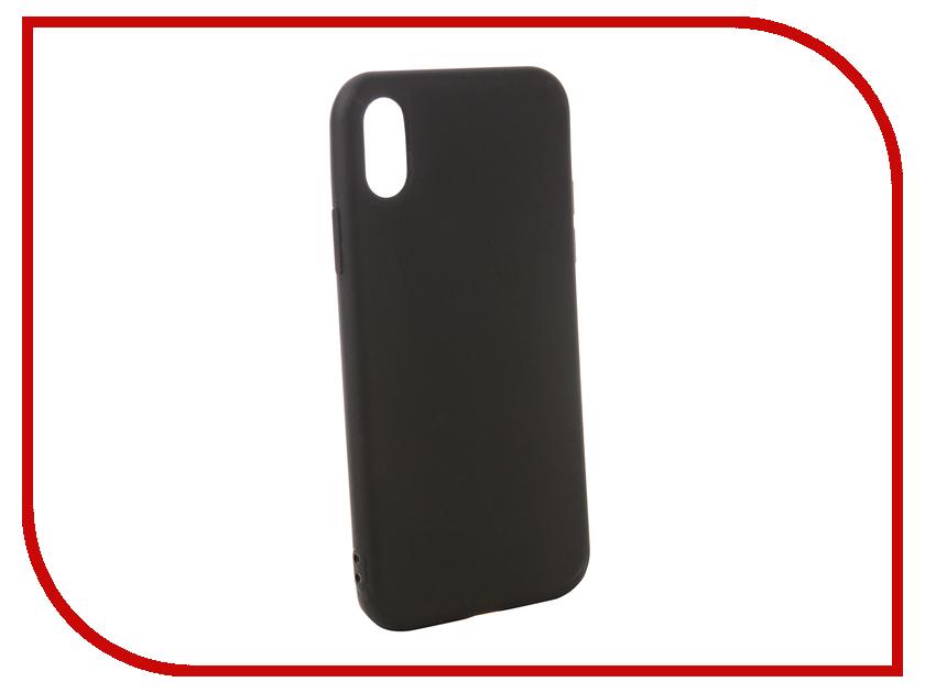 Аксессуар Чехол для APPLE iPhone XS Zibelino Soft Matte Black ZSM-APL-XS-BLK аксессуар чехол zibelino ultra thin case extra для apple iphone 7 black zutce apl 7 blk