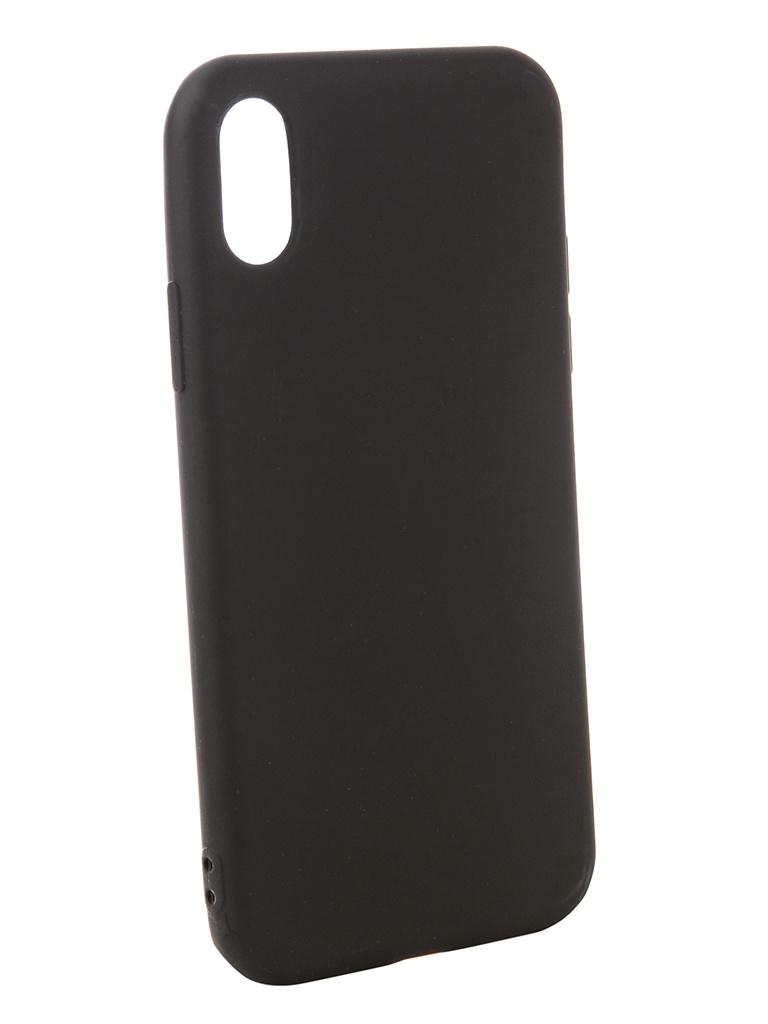 Чехол Zibelino для APPLE iPhone XS Soft Matte Black ZSM-APL-XS-BLK цена и фото