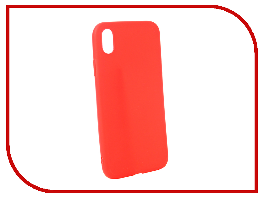 Аксессуар Чехол для APPLE iPhone XR Zibelino Soft Matte Red ZSM-APL-XR-RED аксессуар чехол zibelino soft matte для apple iphone xs max black zsm apl xsmax blk