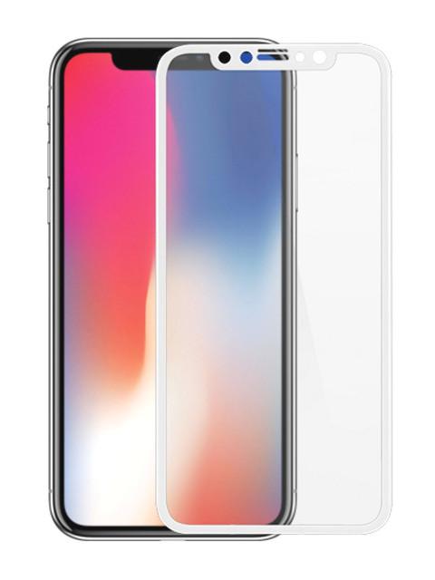 Аксессуар Защитное стекло LuxCase для APPLE iPhone XS 3D FG White 77978 защитное стекло luxcase 3d для apple iphone x чёрная рамка антиблик