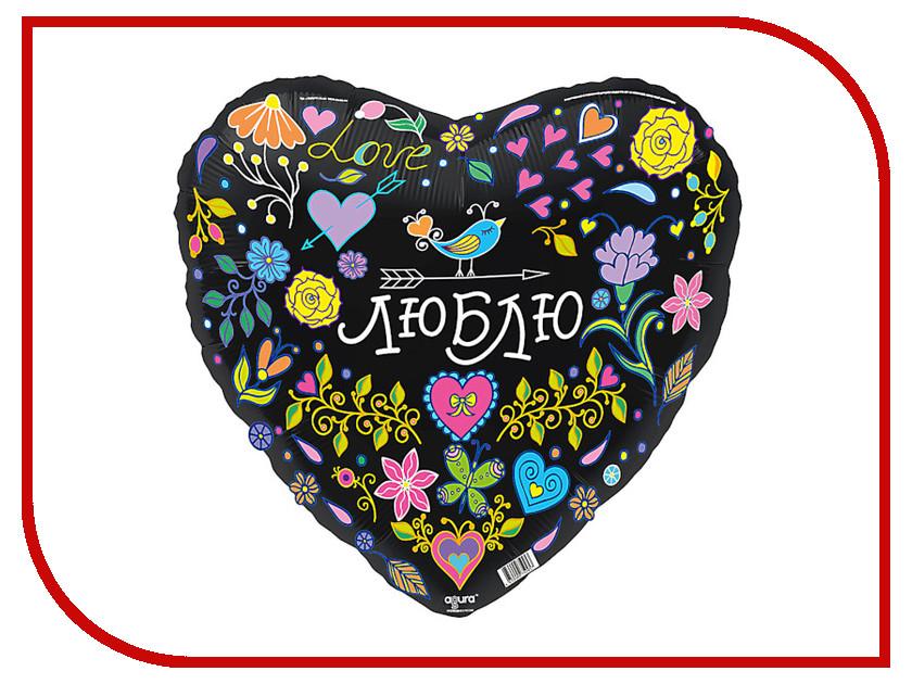 Шар фольгированный Agura Признание в любви Сердце 18-inch Black 3803590 дмитриев а сост признание в любви