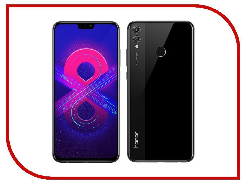 Сотовый телефон Honor 8X 4/128GB Black сотовый телефон htc u ultra 128gb brilliant black