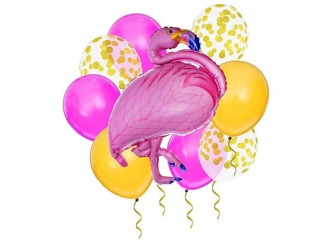 Фонтан из шаров Страна Карнавалия Набор Фламинго 9шт 3217461