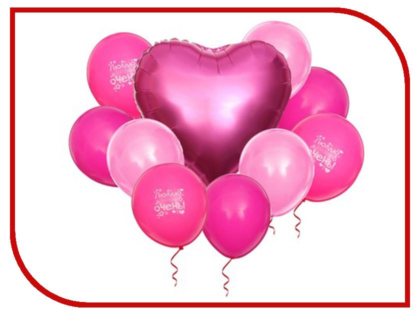 Фонтан из шаров Страна Карнавалия Набор Любовь 10шт 3217454 фонарик бумажный страна карнавалия совет да любовь цвет коралловый