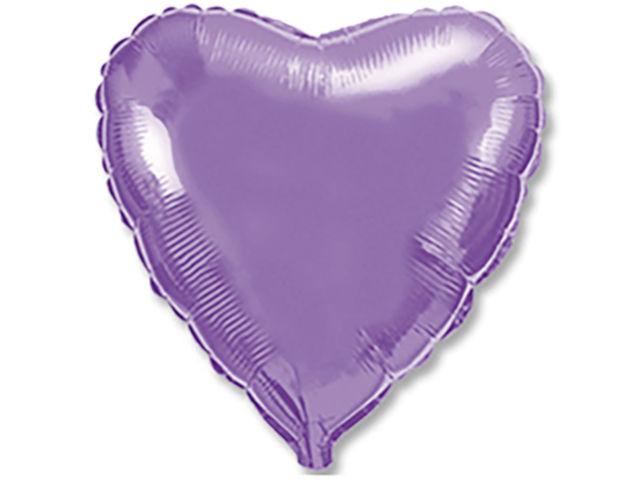 Шар фольгированный Flexmetal Сердце 18-inch Lilac Metallic 2612150