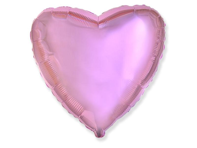 Шар фольгированный Flexmetal Сердце 18-inch Pink Metallic 2612153