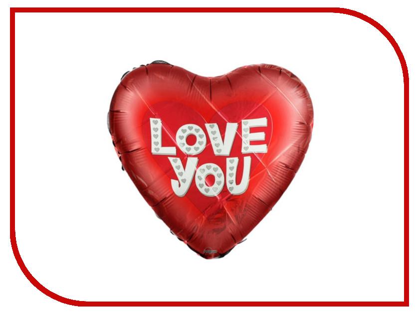 Шар фольгированный Anagram I Love You Сердце 18-inch Red 1352421 12 thicken i love you latex balloon white 10 pcs