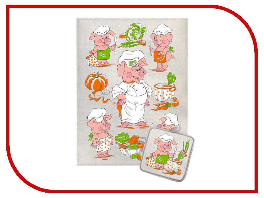 Кухонный набор СИМА-ЛЕНД Шеф повар Хрюша 3505364 новогодний стол очень красиво юный шеф повар