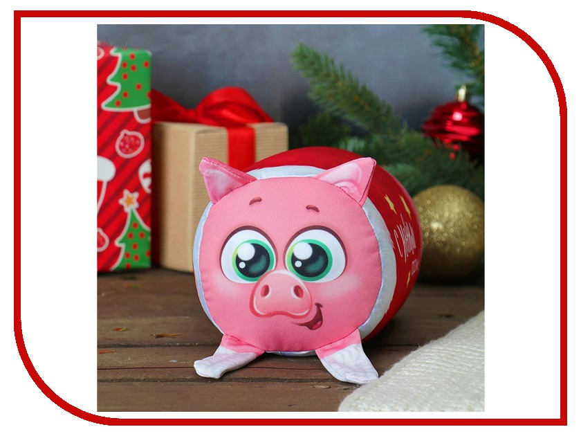 Игрушка антистресс Mni Mnu Валик С Новым годом свинка 3800201 с новым годом комплект из 10 плакатов