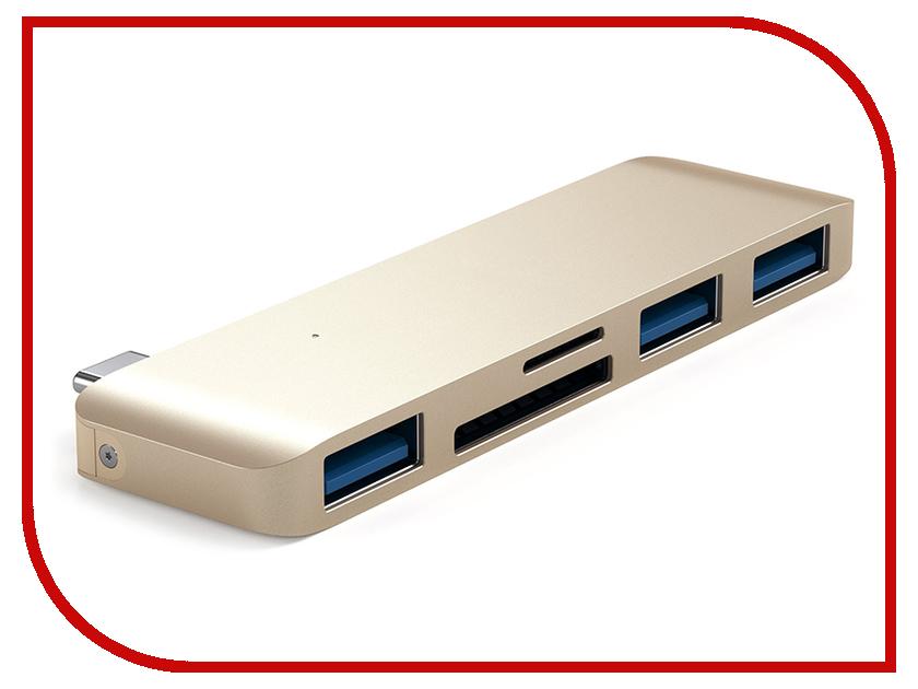 Хаб USB Satechi Type-C USB Hub для Macbook Gold ST-TCUHG usb 3 1 type c to 4k hdmi tv usb3 0 video adapter 3in1 hub for apple macbook macbook pro type c hdmi adapter video converter