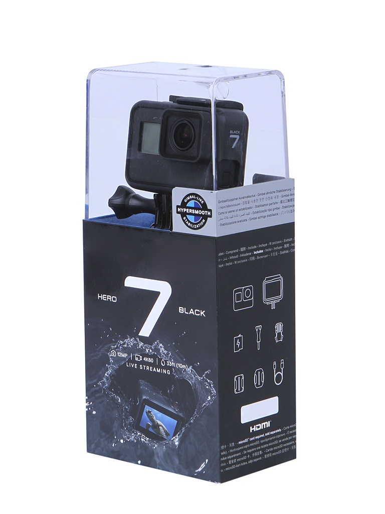 Экшн-камера GoPro Hero 7 Black Edition CHDHX-701-RW