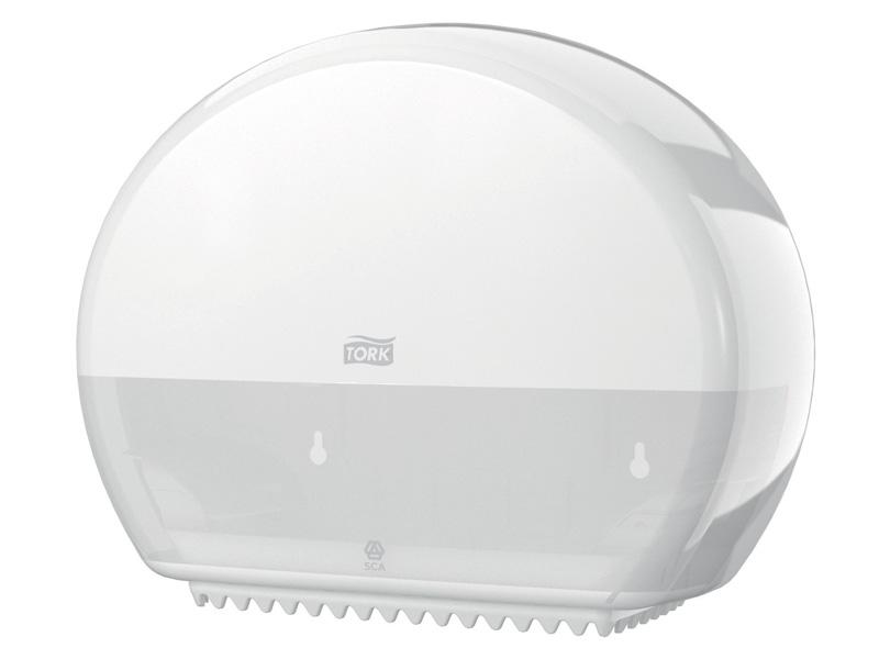 Дозатор Tork T2 Elevation для туалетной бумаги White 555000 диспенсер для полотенец tork система h2 elevation mini interfold белый 552100