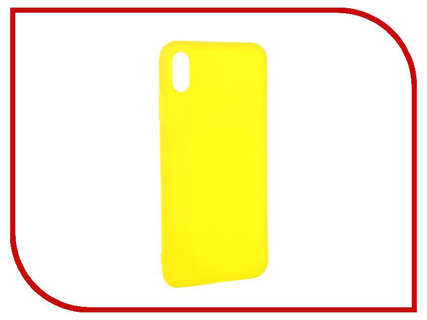 Аксессуар Чехол для APPLE iPhone XS Max Gurdini Matte Silicone 0.3mm Yellow 906923 аксессуар чехол для apple iphone xs max gurdini ultra slim 0 1mm white 907311