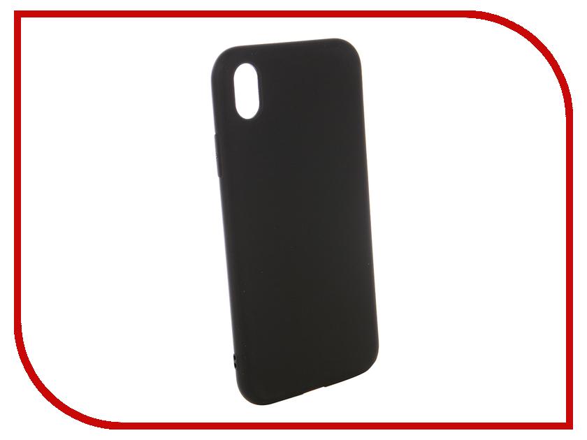 Аксессуар Чехол для APPLE iPhone XR Gurdini Matte Silicone 0.3mm Black 906926 аксессуар стекло противоударное gurdini full screen 2d для apple iphone xr 6 1 matte black 907468