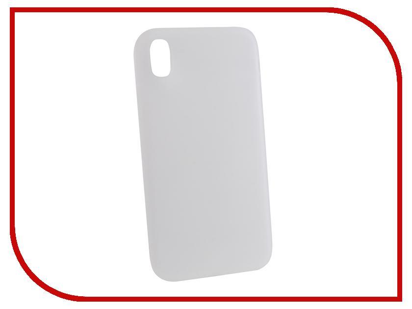 Аксессуар Чехол для APPLE iPhone XR Gurdini Matte Silicone 0.3mm Transparent 906927 аксессуар стекло противоударное gurdini full screen 2d для apple iphone xr 6 1 matte black 907468