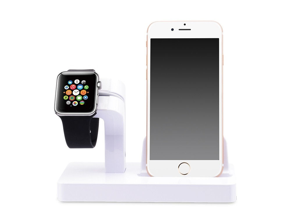 Аксессуар Док-станция Gurdini Smart Apple Watch + Lightning Connector White 903285