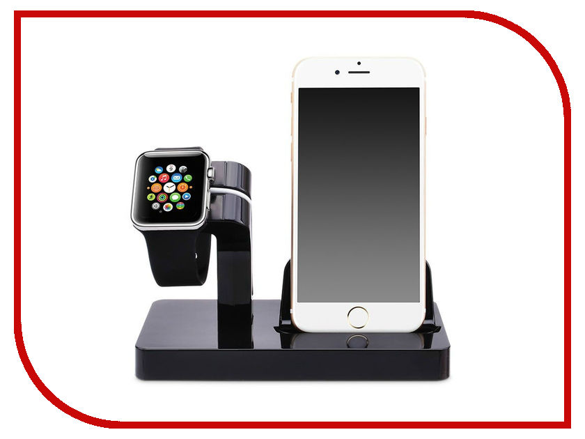 Аксессуар Док-станция Gurdini Smart Apple Watch + Lightning Connector Black 903286 no 1 d7 smart watch black