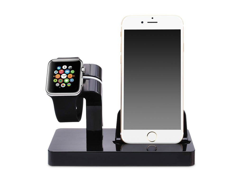 Аксессуар Док-станция Gurdini Smart Apple Watch + Lightning Connector Black 903286