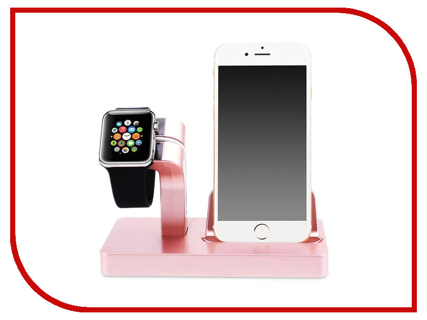 Аксессуар Док-станция Gurdini Smart Apple Watch + Lightning Connector Pink 903287 smart watch gw700 pink
