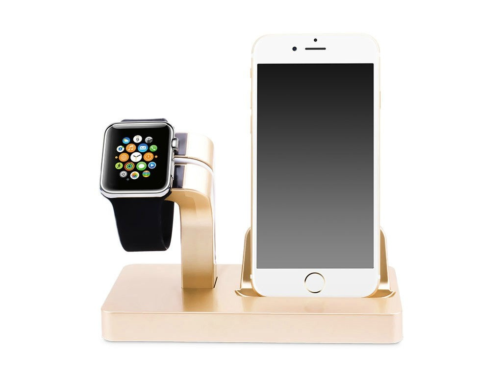 Аксессуар Док-станция Gurdini Smart Apple Watch + Lightning Connector Champagne 904661