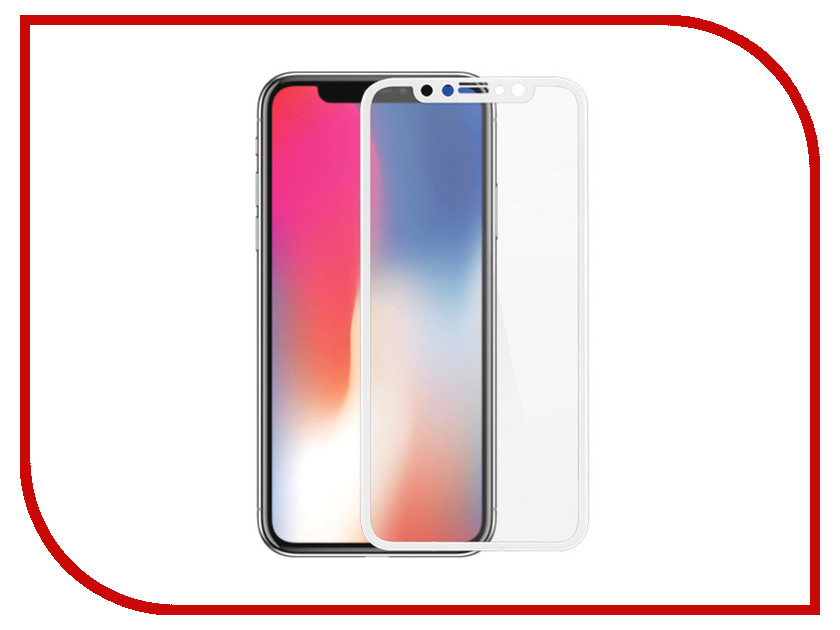 Аксессуар Защитно стекло для APPLE iPhone XR LuxCase 3D Full Glue White Frame 83010 red line s7 gold кабель lightning usb 1 м