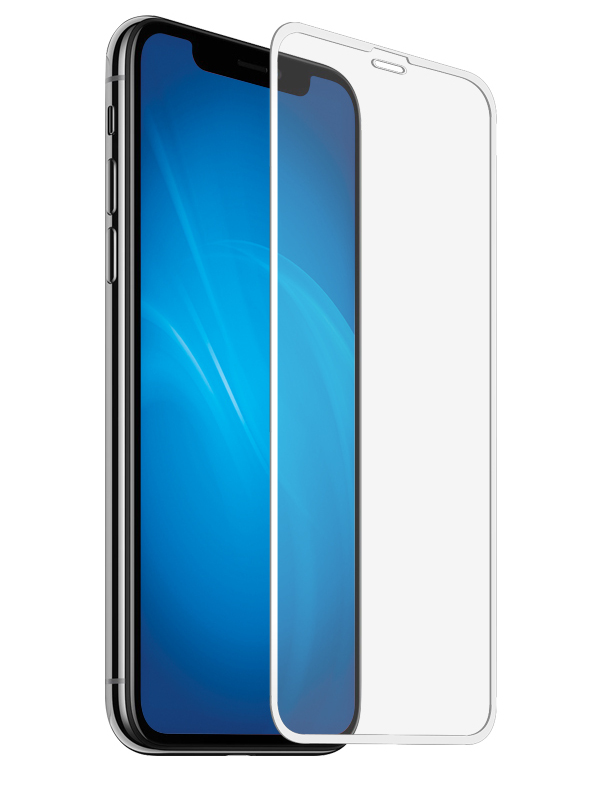 Аксессуар Защитно стекло LuxCase для Apple iPhone XS Max 3D Full Glue White Frame 83012