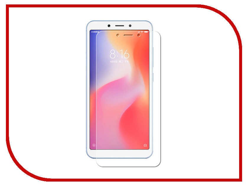 Аксессуар Защитная пленка для Xiaomi Redmi 6/6A LuxCase суперпрозрачная 56815 аксессуар защитная пленка luxcase for iphone 6 4 7 inch суперпрозрачная 80293
