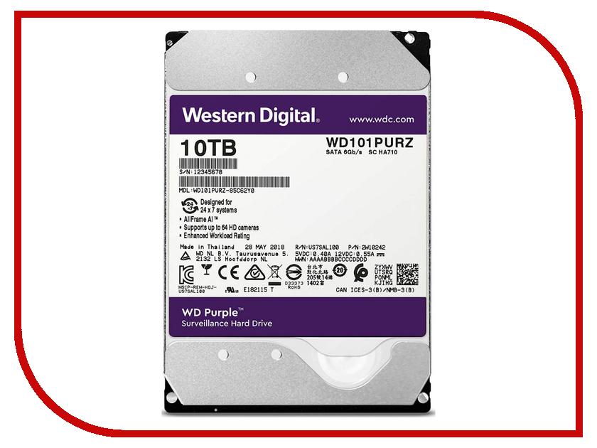 Жесткий диск 10Tb - Western Digital WD Purple WD101PURZ жесткий диск серверный western digital 10tb wd101kryz wd101kryz