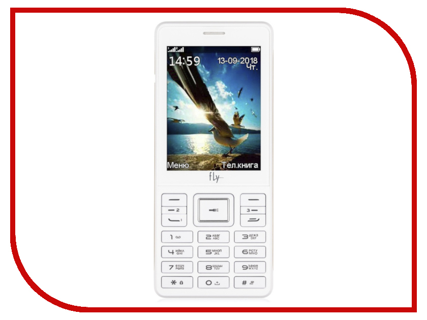 Сотовый телефон Fly TS114 White цена и фото