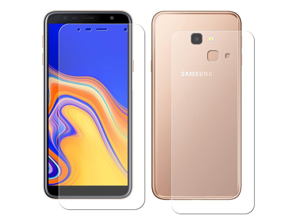 Аксессуар Защитная пленка LuxCase Front&Back для Samsung Galaxy J4 Plus антибликовая 52656