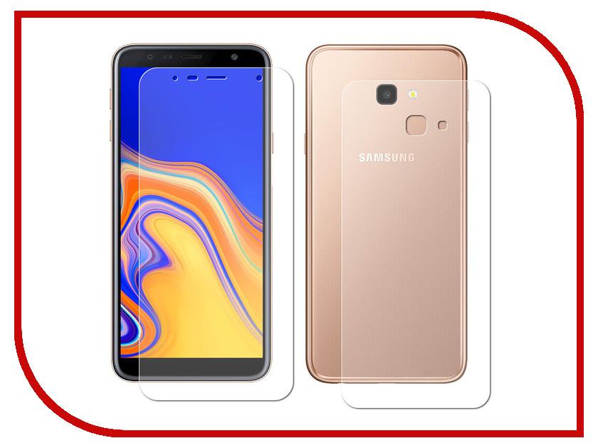 Аксессуар Защитная пленка для Samsung Galaxy J4 Plus LuxCase Front&Back суперпрозрачная 52657 luxcase защитная пленка для samsung galaxy note 8 суперпрозрачная