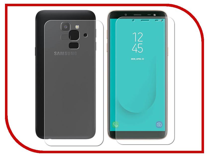 Аксессуар Защитная пленка для Samsung Galaxy J6 Plus 2018 LuxCase Front&Back суперпрозрачная 52659 аксессуар гибридная защитная пленка для samsung galaxy j6 plus 2018 red line ут000016660