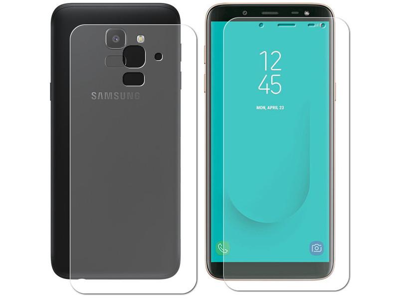 Аксессуар Защитная пленка LuxCase Front&Back для Samsung Galaxy J6 Plus 2018 суперпрозрачная 52659